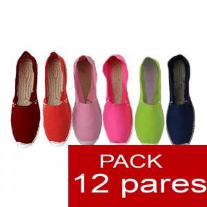 Imagen Mujer Colores Lisos Alpargatas Boda MUJER Surtidas en colores y tallas - Caja 12 pares