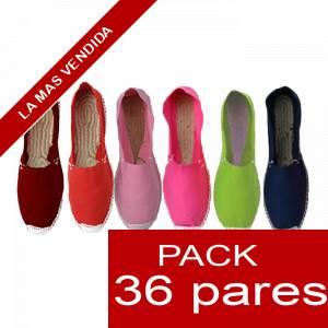 Imagen Mujer Colores Lisos Alpargatas Boda MUJER Surtidas en colores y tallas - Caja 36 pares