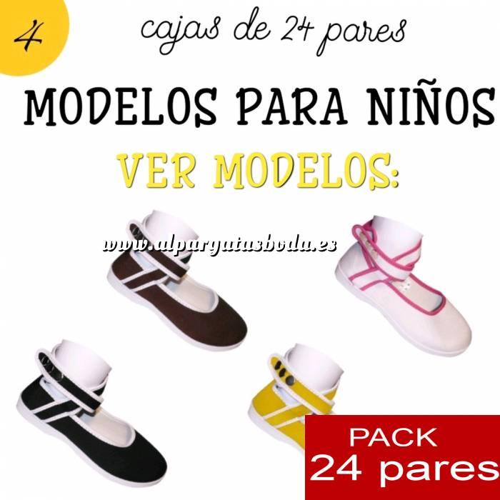 Imagen Modelos para Niños Manoletinas NIÑO-NIÑA MARINO atadas al tobillo Caja de 24 pares (Últimas Unidades)