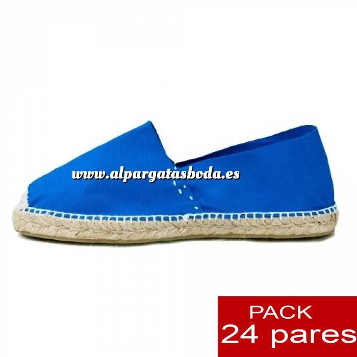 Imagen Mujer Cerradas Alpargatas cerradas MUJER color Azul Royal - caja 24 pares (Últimas Unidades)