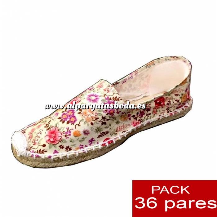 Imagen Mujer Estampadas Alpargata estampada FLOR DE ARROZ Caja 36 pares (Últimas Unidades)