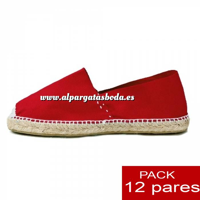 Imagen Para Niño Alpargatas Niño color ROJO LOTE de 12 uds (tallas 28-34)