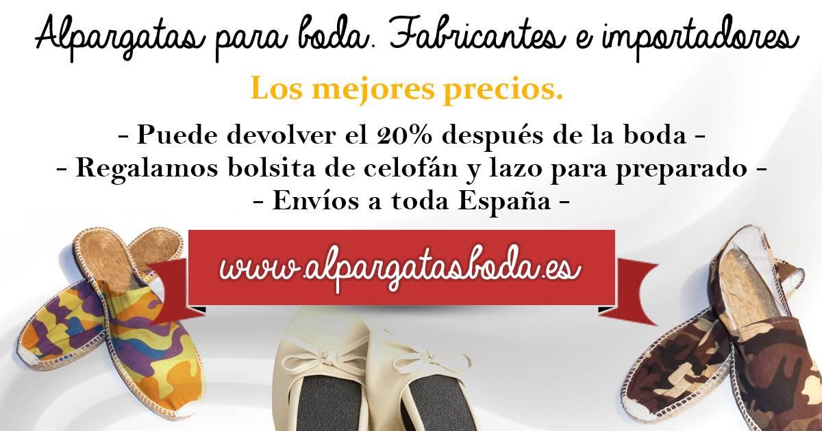 Alpargatas de Esparto para Bodas Catálogo online , venta .