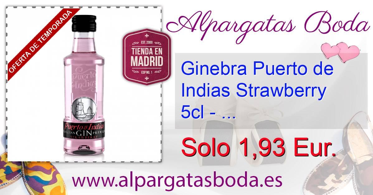 Ginebra puerto de indias strawberry 5cl - Ginebra puerto de indias precio ...