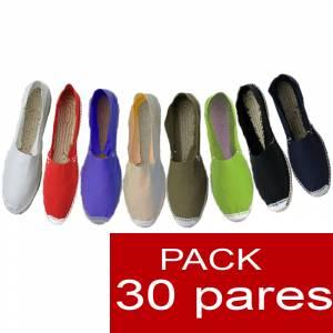 Alpargatas hombre y mujer boda - Alpargatas cerradas OFERTA ESPECIAL 5 surtidas en colores y tallas para hombre y mujer - caja 30 pares (�ltimas Unidades)