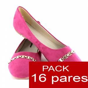 Alta Calidad - Manoletinas Classic FUCSIA - Caja 16 pares (Ref. A806 Pink) - OFERTA ULTIMAS CAJAS