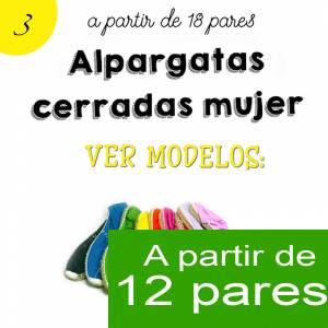 Imagen Mujer Cerradas Alpargatas Cerradas MUJER color BURDEOS - A partir de 12 pares