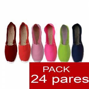 Mujer Cerradas - Alpargatas cerradas Boda Surtidas en colores y tallas - caja de 24 pares