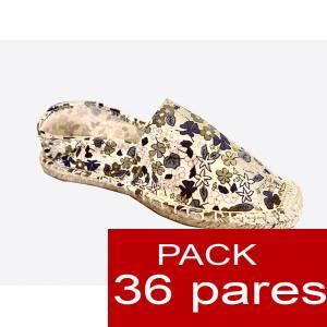Mujer Estampadas - Alpargata estampada FLORES MODELO A4 Caja 36 pares (Últimas Unidades)