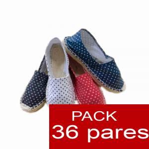 Mujer Estampadas - Alpargata estampada PUNTOS Caja 36 pares (Últimas Unidades)