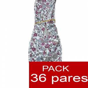 Mujer Estampadas - Alpargatas estampadas Flores GRANATE Caja 36 pares (Ref.Rosa flores) (áltimas Unidades) (Últimas Unidades)