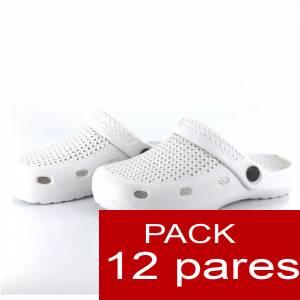 Zuecos tipo Crocs - Zuecos tipo Crocs HOMBRE - Blanco - CAJA DE 12 UDS (�ltimas Unidades)